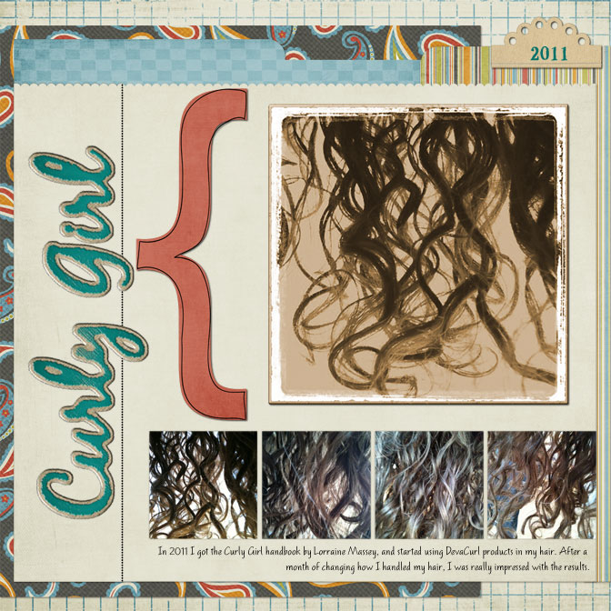 Curly Girl layout