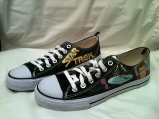 Comic Book Decoupaged Sneakers