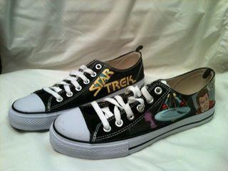 Comic Book Decoupaged Sneakers