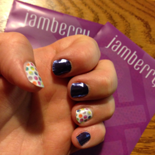 Jamberry Painted Polka and Berry Blue